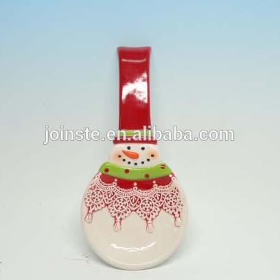 Custom Christmas snowman painting soup spoon Christmas gift