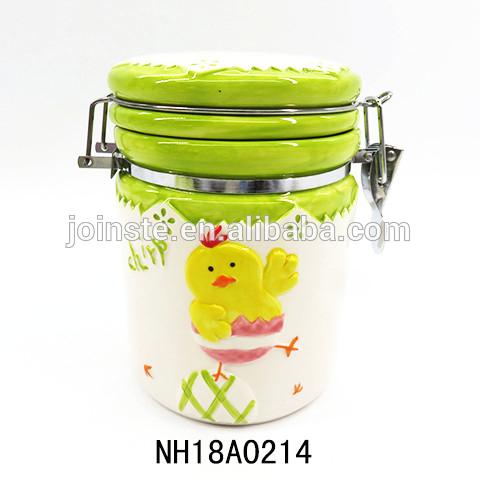 Ceramic easter chicks Canister Set For Coffee Tea Sugar